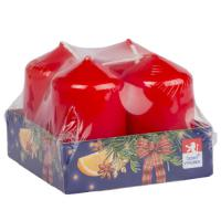 Pillar candle 40x60mm , 4 pcs in tray