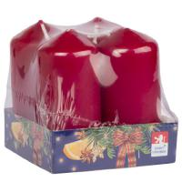 Pillar candle 40x80mm , 4 pcs in tray