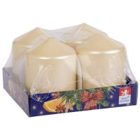 Pillar candle 60x80mm , 4 pcs in tray