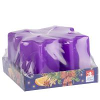 Star candle 70x80mm, 4 pcs in tray