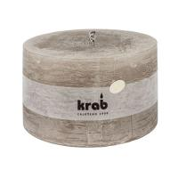 Garden candle rustic 140x80mm, 1000g, taupe
